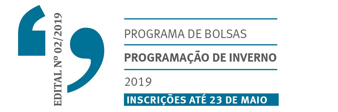 Edital Inverno 2019
